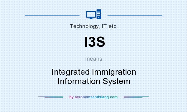 What does I3S mean? It stands for Integrated Immigration Information System