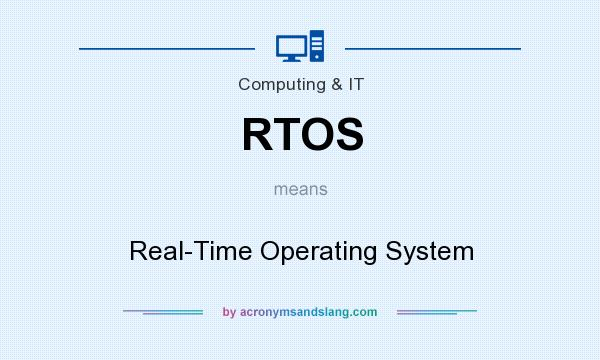 What does RTOS mean? It stands for Real-Time Operating System
