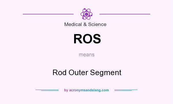 What does ROS mean? It stands for Rod Outer Segment