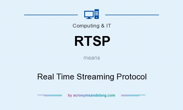 What does RTSP mean? It stands for Real Time Streaming Protocol