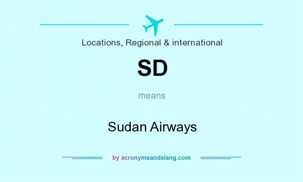 What does SD mean? It stands for Sudan Airways