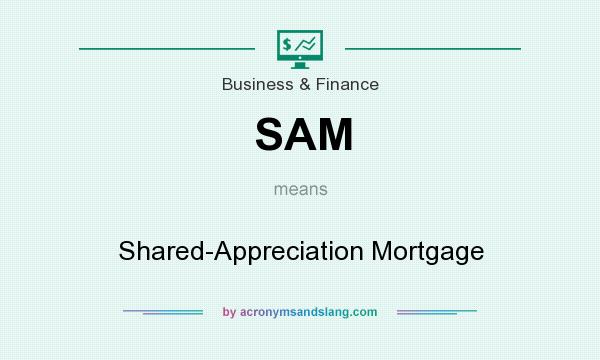 What does SAM mean? It stands for Shared-Appreciation Mortgage