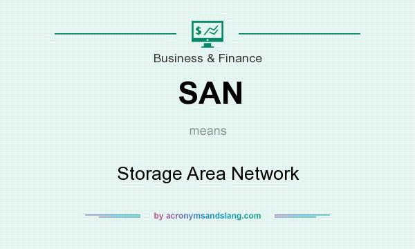 What does SAN mean? It stands for Storage Area Network