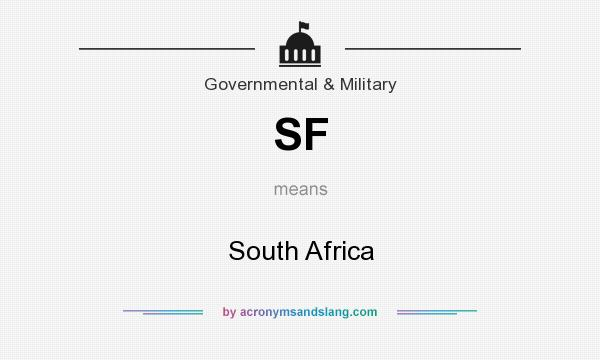 What does SF mean? It stands for South Africa