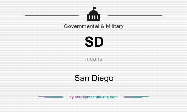 What does SD mean? It stands for San Diego