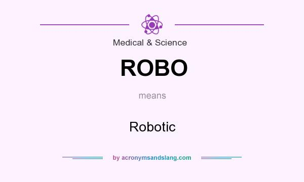 What does ROBO mean? It stands for Robotic