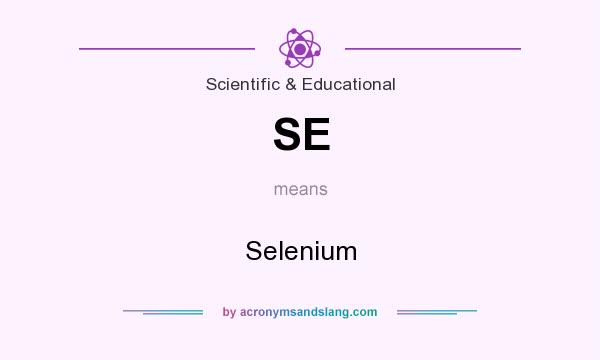 What does SE mean? It stands for Selenium