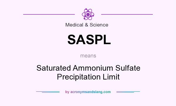 What does SASPL mean? It stands for Saturated Ammonium Sulfate Precipitation Limit