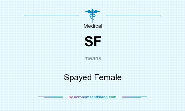 What does SF mean? It stands for Spayed Female