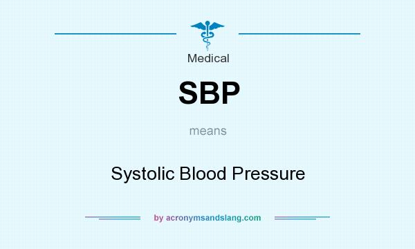 What does SBP mean? It stands for Systolic Blood Pressure