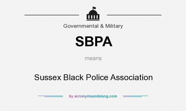 What does SBPA mean? It stands for Sussex Black Police Association