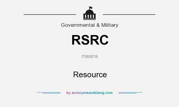What does RSRC mean? It stands for Resource
