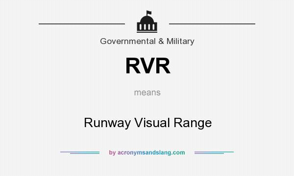 What does RVR mean? It stands for Runway Visual Range