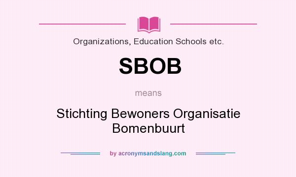 What does SBOB mean? It stands for Stichting Bewoners Organisatie Bomenbuurt