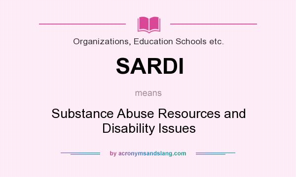 What is the abbreviation for substance abuse resources and disability