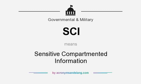 What does SCI mean? It stands for Sensitive Compartmented Information