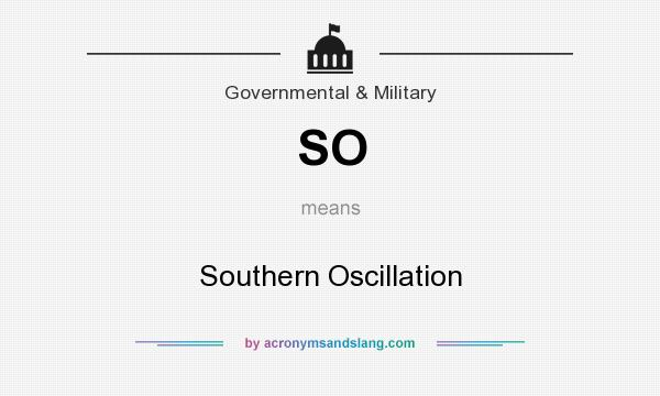 What does SO mean? It stands for Southern Oscillation
