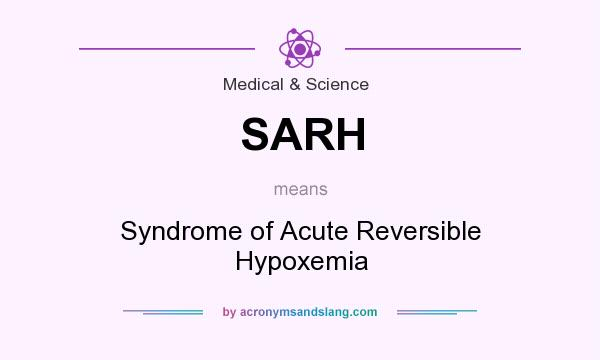 What does SARH mean? It stands for Syndrome of Acute Reversible Hypoxemia