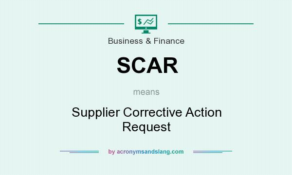 What does SCAR mean? It stands for Supplier Corrective Action Request