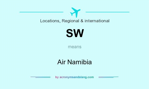 What does SW mean? It stands for Air Namibia