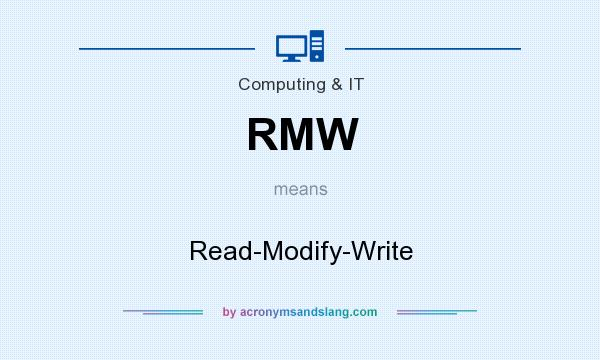 What does RMW mean? It stands for Read-Modify-Write