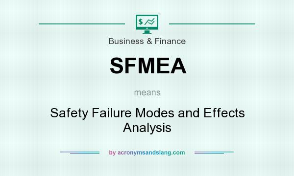 What does SFMEA mean? It stands for Safety Failure Modes and Effects Analysis