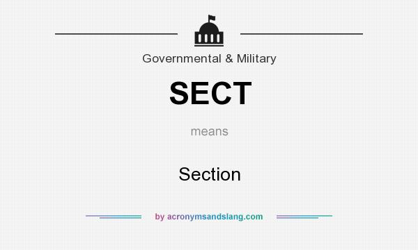 What does SECT mean? It stands for Section