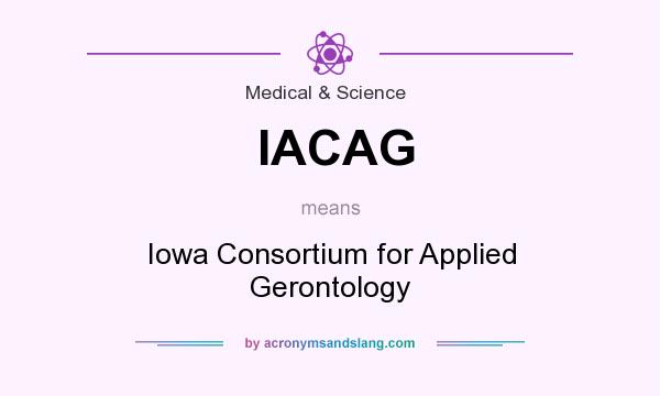 What does IACAG mean? It stands for Iowa Consortium for Applied Gerontology