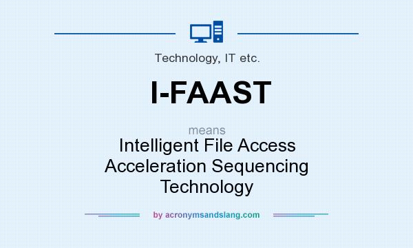 What does I-FAAST mean? It stands for Intelligent File Access Acceleration Sequencing Technology
