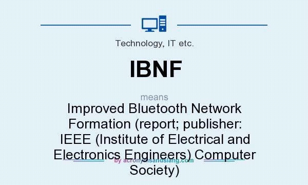 What does ibnf mean definition of ibnf ibnf stands for Ieee definition