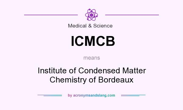 What does ICMCB mean? It stands for Institute of Condensed Matter Chemistry of Bordeaux