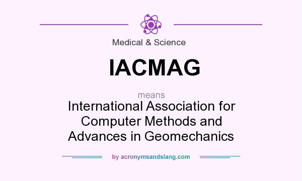 What does IACMAG mean? It stands for International Association for Computer Methods and Advances in Geomechanics