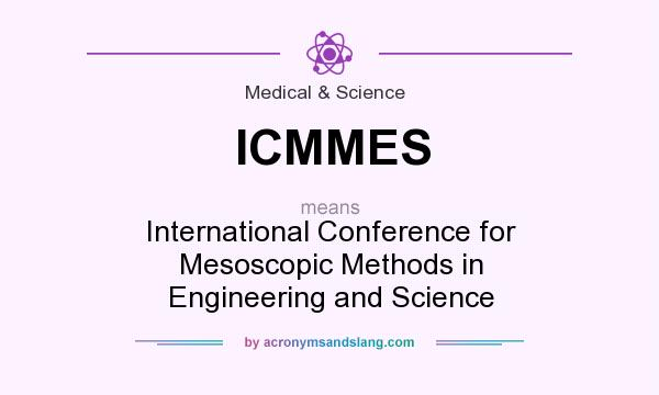What does ICMMES mean? It stands for International Conference for Mesoscopic Methods in Engineering and Science
