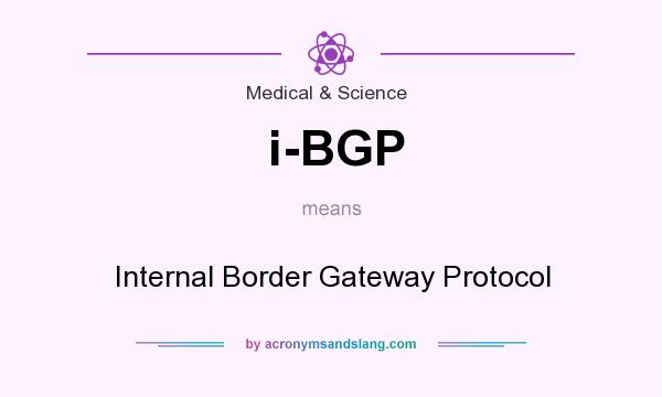 What does i-BGP mean? It stands for Internal Border Gateway Protocol