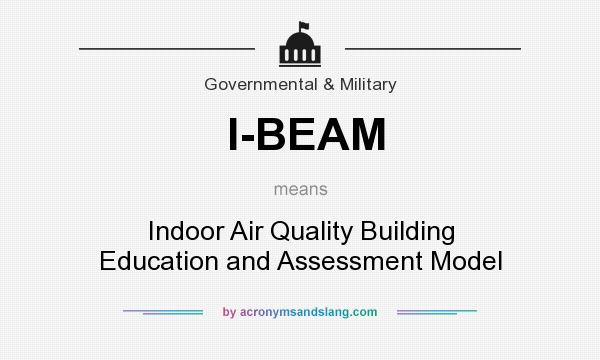 What does I-BEAM mean? It stands for Indoor Air Quality Building Education and Assessment Model