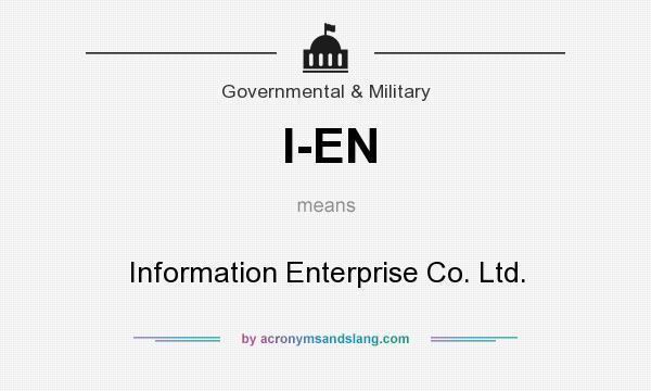 What does I-EN mean? It stands for Information Enterprise Co. Ltd.