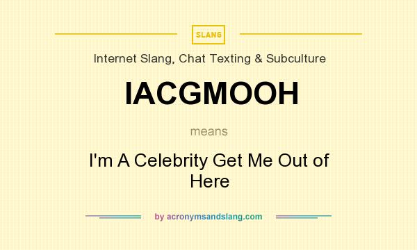 What does IACGMOOH mean? It stands for I`m A Celebrity Get Me Out of Here
