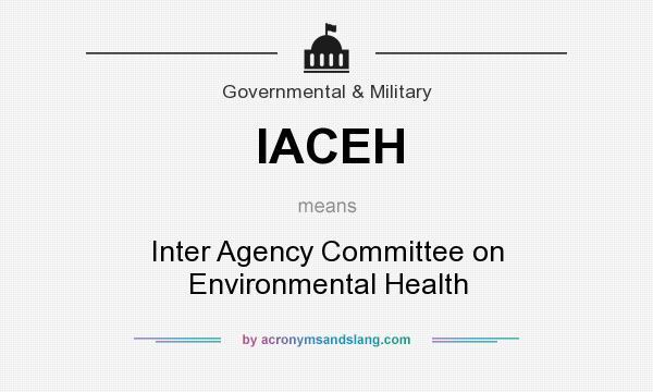 What does IACEH mean? It stands for Inter Agency Committee on Environmental Health