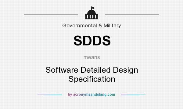 Sdds Software Detailed Design Specification By Acronymsandslang Com