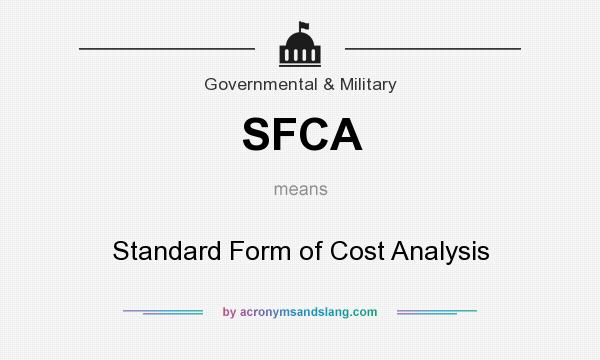 Sfca Standard Form Of Cost Analysis In Government Military By