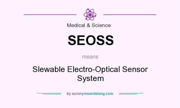 What does SEOSS mean? It stands for Slewable Electro-Optical Sensor System
