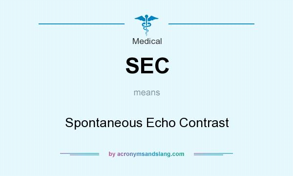 What does SEC mean? It stands for Spontaneous Echo Contrast