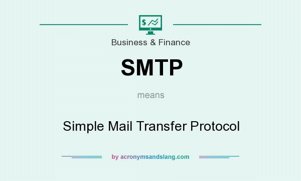 What does SMTP mean? It stands for Simple Mail Transfer Protocol