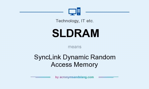 What does SLDRAM mean? It stands for SyncLink Dynamic Random Access Memory