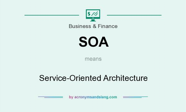 What does SOA mean? It stands for Service-Oriented Architecture