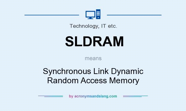 What does SLDRAM mean? It stands for Synchronous Link Dynamic Random Access Memory