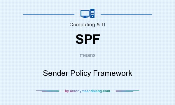 What does SPF mean? It stands for Sender Policy Framework