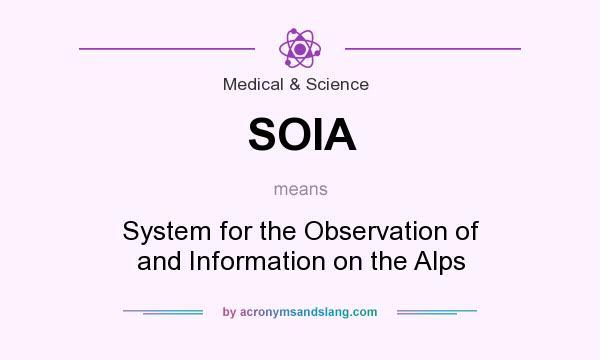 What does SOIA mean? It stands for System for the Observation of and Information on the Alps
