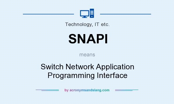 Snapi Switch Network Application Programming Interface In