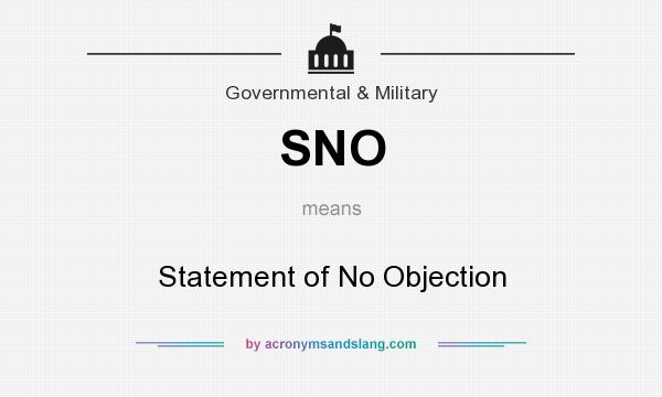statement of no objection